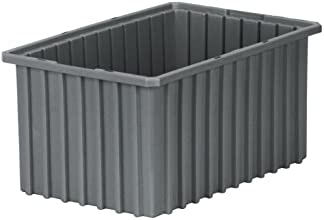 Akro-Mils 33168 Akro-Grid Slotted Divider Plastic Tote Box 16-12-Inch Length by 10-78-Inch Width by
