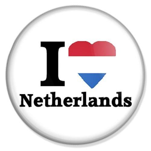 Button I love Netherlands - I love Badge, I love Pin, I love Badges, I love Button, I love Pins