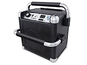 Ion Audio iPA30ABK Tailgater Active Portable Heavy-Duty Bluetooth Speaker System with AM/FM Radio, Black
