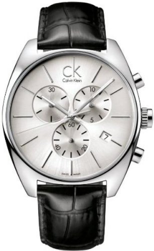 Calvin Klein Quartz Exchange Pig Skin Strap Grey Dial Men's Watch K2F27120