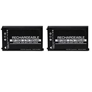 Multipack (2 Count): Extended Performance Replacement Battery for Specific Digital Camera and Camcorder Models / Compatible with Kyocera BP-780S, Kyocera (Yashica) Finecam SL300R, SL400R, CONTAX SL300RT, Finecam M400R, SL300R, SL400R