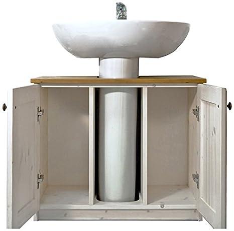 Mobile bagno rustico sotto lavabo in legno di pino -Colore Naturale