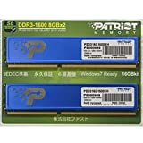 PATRIOT メモリ DDR3 DIMM Single/Dual KIT PC3-12800 8GB*2 CL11 1.5V PSD316G1600KH
