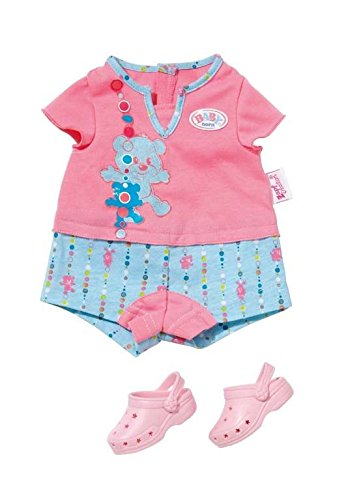 Zapf Creation 819425 - BABY born Shorty Pyjama mit Clogs