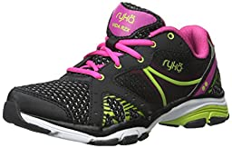 RYKA Women\'s Vida Rzx Cross-Training Shoe, Black/Ryka Pink/Lime Blaze, 10 M US