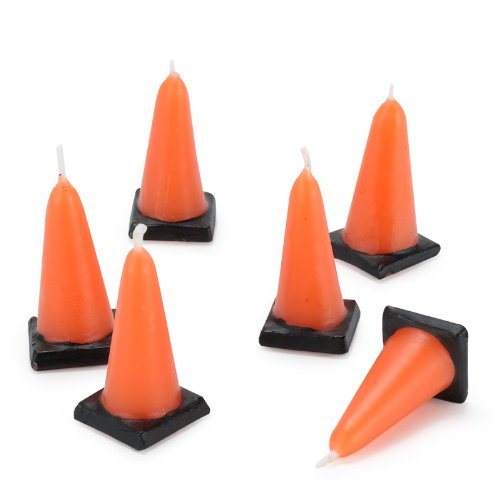 Construction Cone Molded Candles (6) (Construction Cone Party compare prices)