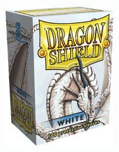 Dragon Shield Sleeves - WHITE - Standard Size Deck Protectors (100 ct) Arcane Tinmen