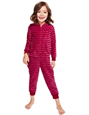 Hooded Fleece Striped Soft & Cosy Onesie