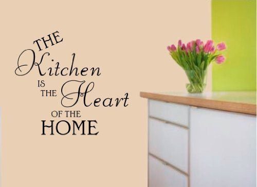 Kitchen Heart of the Home Vinyl Decal Wall Art Sticker WA23 - Large