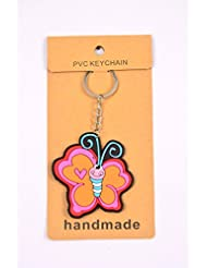 Pink Butterfly Love Key Chain Pack Of 2
