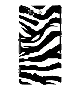 Tiger Pattern 3D Hard Polycarbonate Designer Back Case Cover for Sony Xperia Z4 Mini :: Sony Xperia Z4 Compact