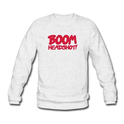 Spreadshirt, boom_headshot_2c, Men's Sweatshirt, salt & pepper, L