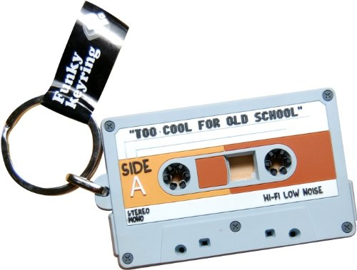 Cassette Tape PVC keyring. Quirky, low-cost gift idea.