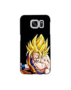 Samsung Galaxy S7 Edge nkt01 (41) Mobile Case from Mott2 - Fighter Goku - Dra... (Limited Time Offers,Please Check the Details Below)