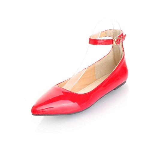 Women's Sweet Style Pointed Toe Flat Heel Boat Shoes