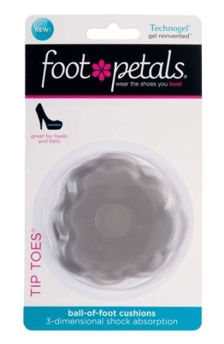 Foot Petals Technogel Tip Toes Ball-of-Foot Cushion Inserts-Clear technogel deluxe 11