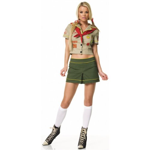 Camper Scout Girl Costume - Large - Dress Size 12-14