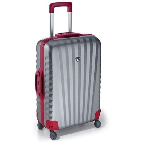 ロンカート スーツケース UNO 65cm シルバーレッド