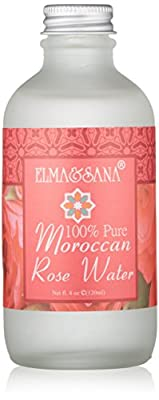 2 X Elma and Sana 100% Pure Moroccan Rose Water, 2 x 4 Ounce