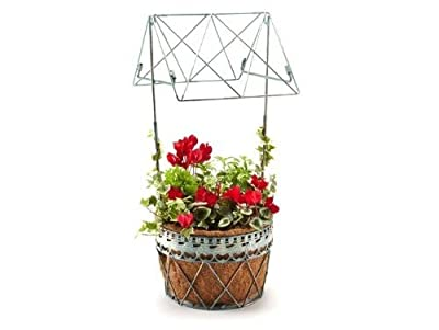 Decorative Metal Wishing Well Planter for the Garden OGD102