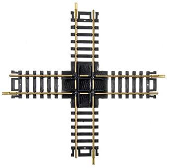 90 Degree Crossing Track - Brass rail