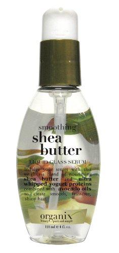 Organix Smoothing Liquid Glass Serum, Shea Butter, 4 Ounce b