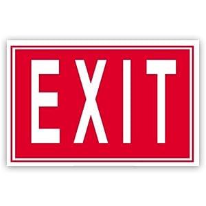 Amazon.com : Advantus Exit Sign, 12 x 8 Inches, Red/White