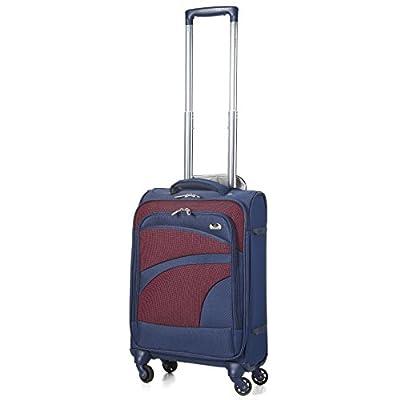 "Aerolite 21"" 55cm Super Lightweight 4 Wheel Spinner Carry On Cabin Hand Luggage Suitcase Travel Trolley Flight Bag Case"