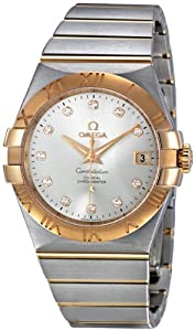 Omega Constellation Chronometer 35 mm Silver Dial Two Tone Mens Watch 123.20.35.20.52.001
