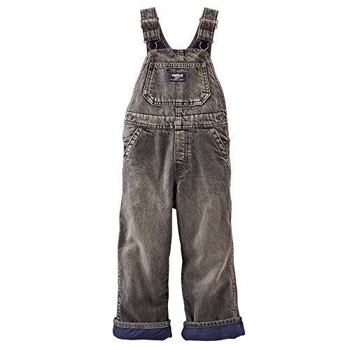 OshKosh B'gosh Toddler Boys Fleece-Lined Overalls Black Denim (2t)