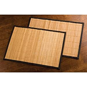 Home dining room kitchen table decor bamboo place mats - Dining room table mats ...