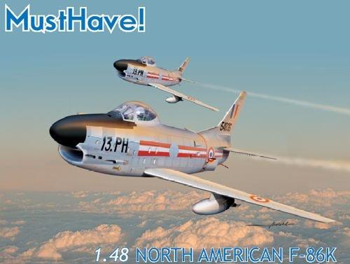 Must Have 148002 F-86K Sabre Dog 1:48 Plastic Kit