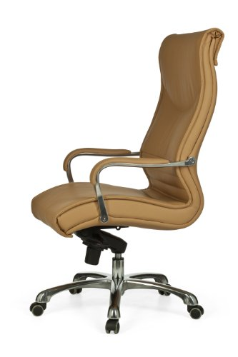 Amstyle Milano XXL Director's Swivel Chair with Synchro Mechanism Leather Caramel