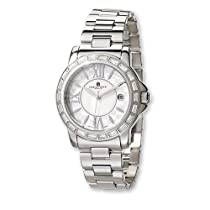 Unisex Charles Hubert Stainless Steel Crystal Bezel Watch