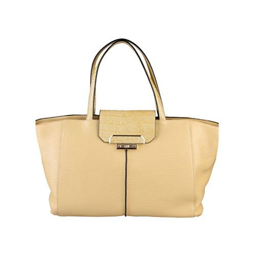 CLASS CAVALLI (Society) Borsa Shopping Donna Pelle Light Yelllow CFV.006