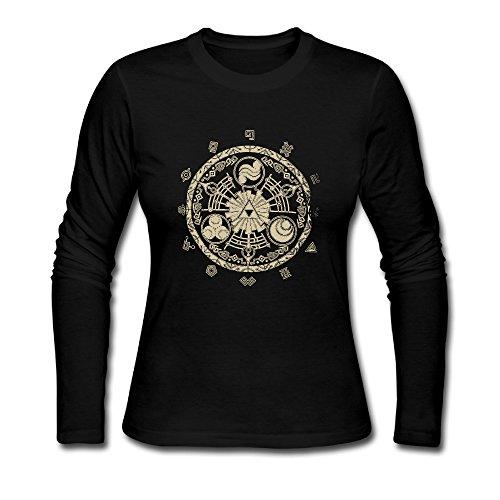zryb36-madchen-t-shirts-slim-fit-cute-gr-m-schwarz