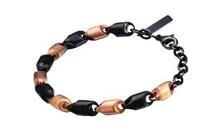 Police Spirit Unisex Black And Rose Gold Bracelet from Police