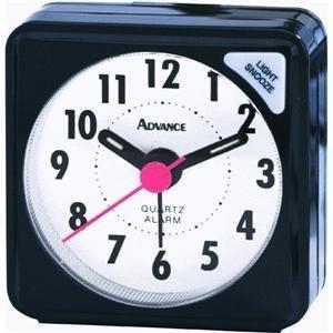Geneva/Advance Clock 3076At Quartz Cube Alarm Clock, Black