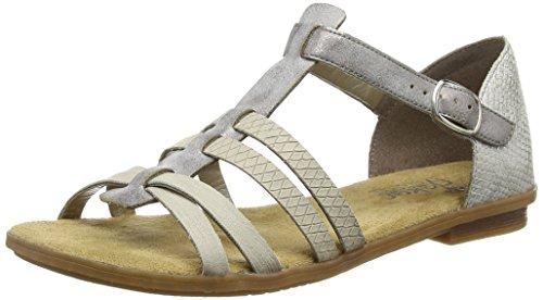 Rieker64288 Women Gladiator -  Sandali Romani donna , Grigio (Grigio (Grey)), 39 EU