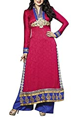 The Magical Thread Women's Cotton Silk Unstitched Dress Material (MR-DN114_Multicolor_Free Size)