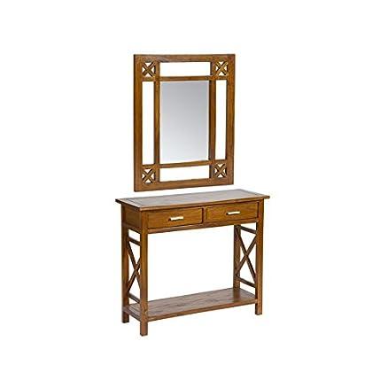 Ingresso rustico con specchio