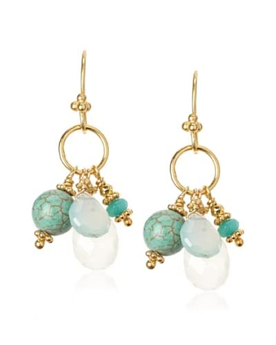 Robindira Unsworth Turquoise Cluster Earrings