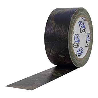"""ProTapes Pro Camo Duct Polyethylene Film with Cloth Carrier Backing Premium Camouflage Tape, 20 yds Length x 2"""" Width, Real Tree Brown Pattern (Pack of 24)"""
