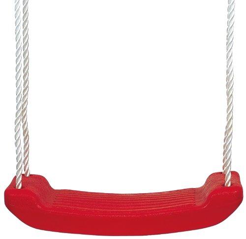 Solex 49814 - Columpio infantil (plástico y fibra plástica, 40 x 16 x 180 cm), color rojo y blanco