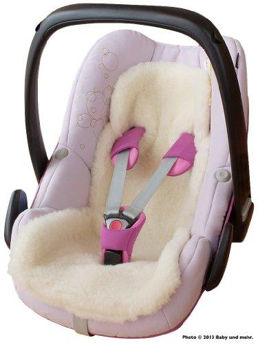 ByBUM-Baby-Lammfellauflage-Universal-fr-Babyschale-Autokindersitz-zB-fr-Maxi-Cosi-Rmer-fr-Babybett-Kinderwagen-o-Buggy-100-MERINOWOLLE