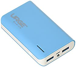 URGE Basics 6,000mAh Powerbank with Dual USB with LED Flashlight - Retail Packaging - Blue