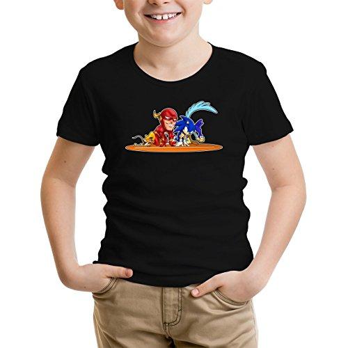t-shirt-enfant-garcon-jeux-video-parodie-flash-et-sonic-et-roadrunner-et-speedy-gonzales-traduction-