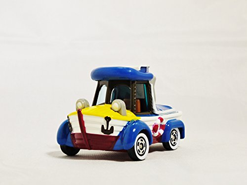 TAKARA TOMY TOMICA Disney Vehicle Collection Tokyo Disney Resort Diecast Car Figure 2015 Special Edition Amphibious ATV all-terrain vehicles Donald Duck Die-cast Figure White & Blue