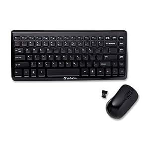 verbatim mini wireless slim keyboard and mouse black 97472 electronics. Black Bedroom Furniture Sets. Home Design Ideas