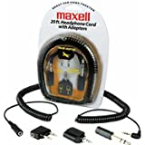 Maxell HP-20 Headphone Extension Cord with Adapters (190399)